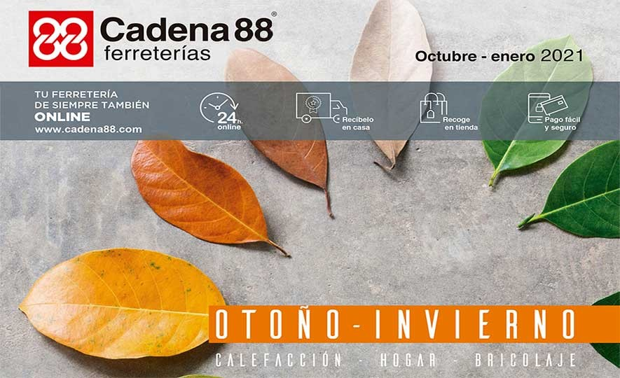 Folleto pasapágina: https://ferreterias.cadena88.com/otono_2020 Enlace disponible a partir del 2 de octubre