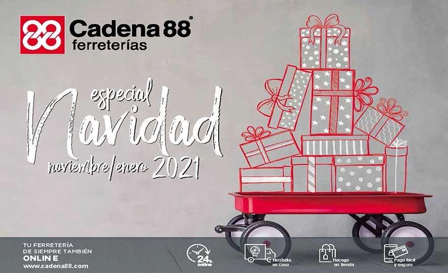 Folleto pasapágina: https://ferreterias.cadena88.com/navidad_2020 Enlace disponible a partir del 2 de noviembre.